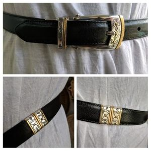 Brighton B40139 M 30 reversible belt silver & gold
